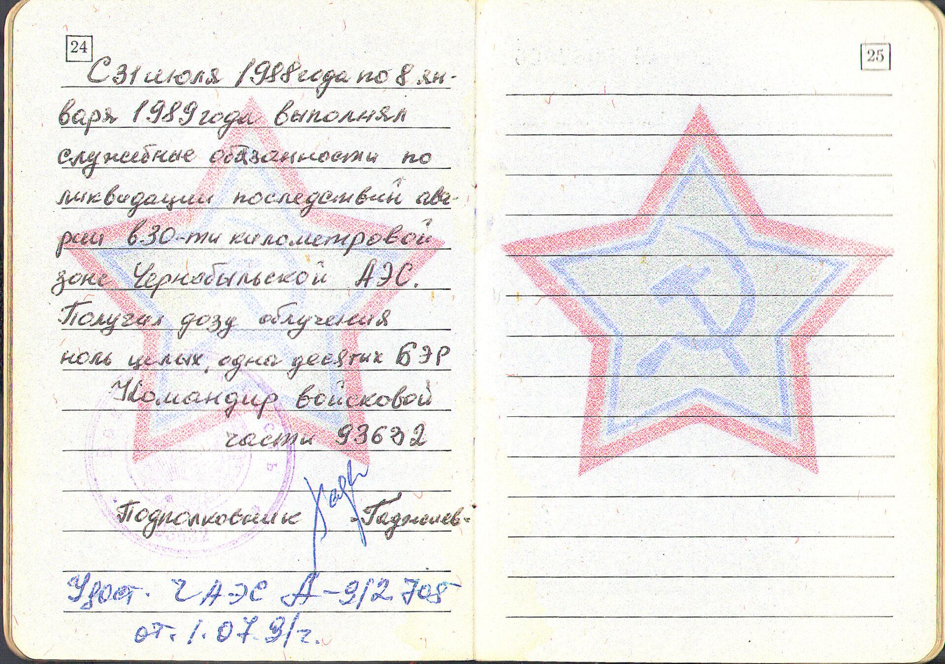 С июля 1988 года по январь 1989-го Владимир Голиздренко участвовал в ликвидации последствий аварии. Плотник по профессии, он был задействован в работах по укреплению саркофага.