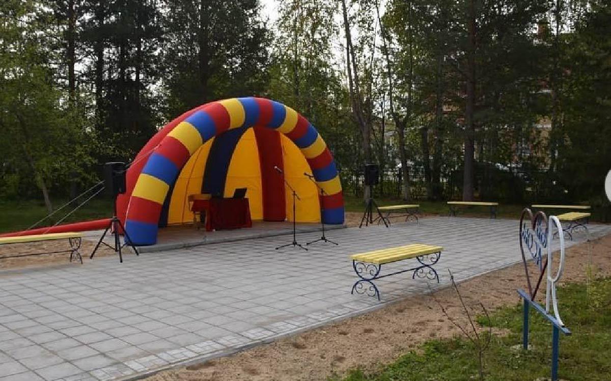Школьный парк «Event place» открыли 1 сентября в с.п. Алябьевский