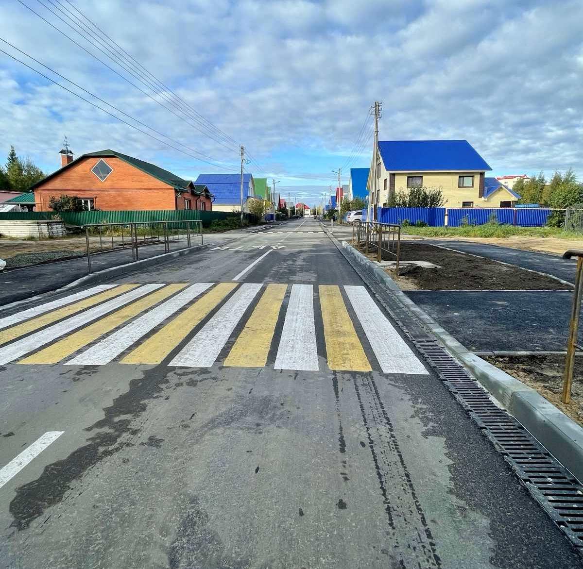 Завершены работы по благоустройству улицы Уральская